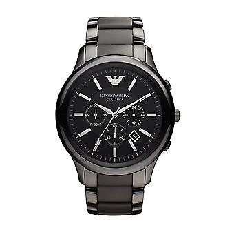 Emporio Armani AR1451 Men's Black Chronograph Watch - Black