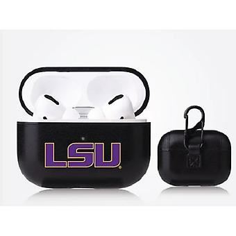LSU Tigers NCAA Fan Brander Zwart Lederen AirPod Pro Case