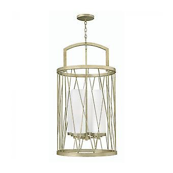 Nest Pendant Light, Silver And Glass, 4 Bulbs