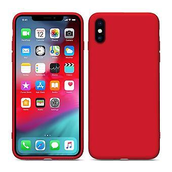 iPhone X/XS Flydende Silikone Shell Rød