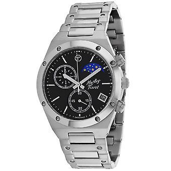 Mathey Tissot Hombres's Elisir Moon Reloj de marcación negra - H680CHAN
