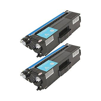 RudyTwos 2x Replacement for Brother TN329C Toner Unit Cyan (Extra High Yield) Compatible with HL-L9200CDWT, L9200CDW, MFC-L9550CDW (NA), HL-L8350CDW, L9200CDWT, DCP-L8450CDW, MFC L8850CDW, L9550CDWT (