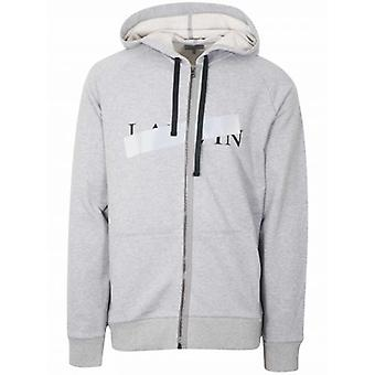 Sweat-shirt à capuchon Lanvin Grey Grey Reflective Cross