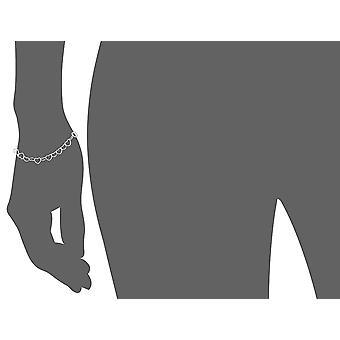 Sterling Silver 5.3mm heart-link rannekoru, 7.25&, hopea, koko 7.2