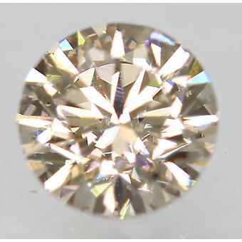 Cert 0.87 Carat Top Light Brown VS1 Round Brilliant Natural Diamond 6.01mm 3EX