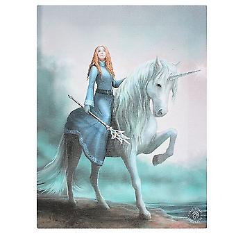 Anne Stokes 19x25cm Journey Starts Canvas