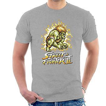 Street Fighter II Pixel Blanka Men's T-Shirt