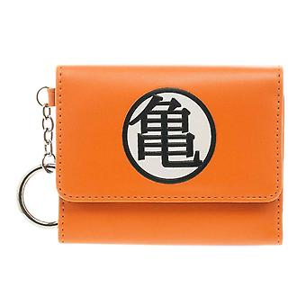 Dragon Ball Z Purse Japanese Logo new Official Orange Trifold