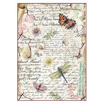 ورقة الأرز A4 اليعسوب &; الفراشات (DFSA4285)