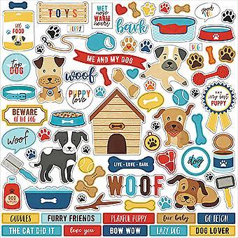 صدى بارك أنا أحب بلدي الكلب 12x12 بوصة ملصقا العنصر