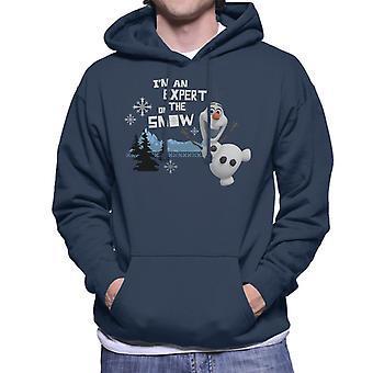 Disney Frozen Olaf Im Un expert sur la neige Men's Sweatshirt à capuchon