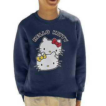 Hello Kitty And Mimmy Character Heads Kid's Sweatshirt