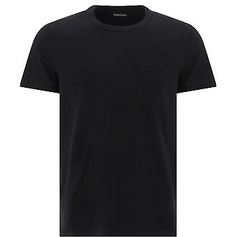 Tom Ford Bu402tfj902k09 Men's Black Cotton T-shirt