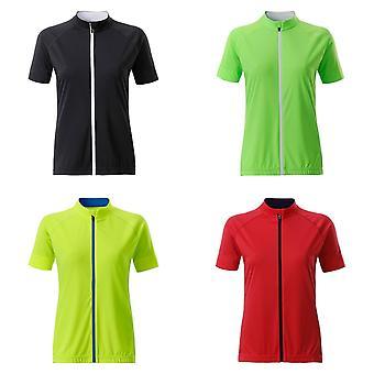 James and Nicholson Womens/Ladies Bike Full Zip T-Shirt