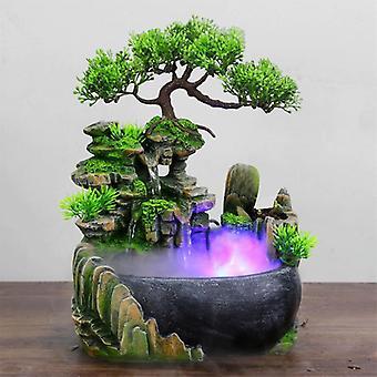 Fließendes Wasser Desktop Wasserfall Brunnen mit Farbwechsel LED-Leuchten Spray -
