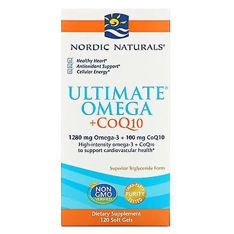 Nordic Naturals, Ultimate Omega + CoQ10, 1,000 mg, 120 Soft Gels