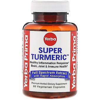 Yerba Prima, Super Turmeric, 60 Vegetarian Capsules