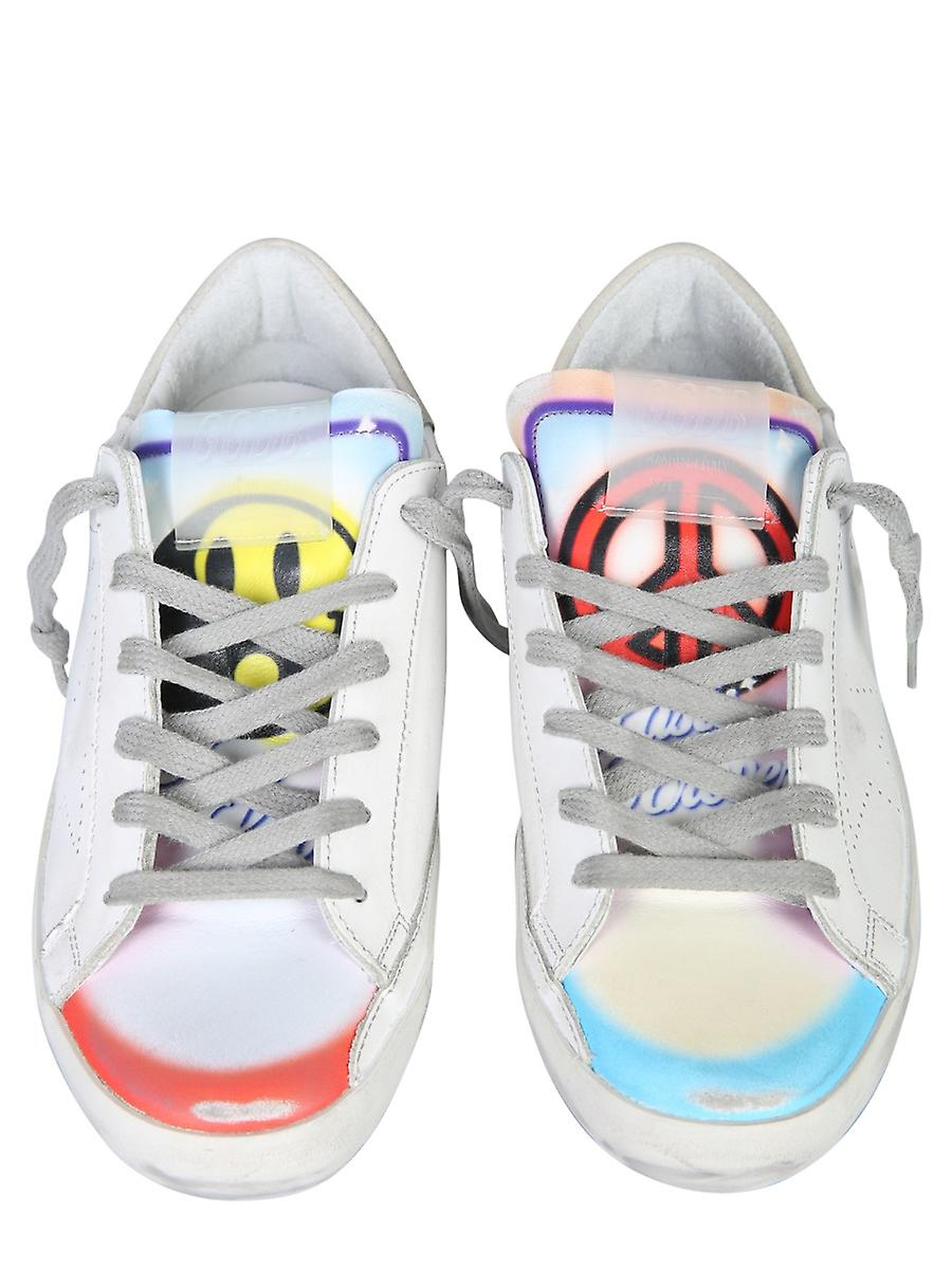 Golden Goose Gwf00105f00028710262 Women's White Leather Sneakers