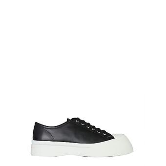 Marni Snzu002002p272200n99 Heren's Black Leather Sneakers