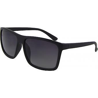 Sonnenbrille Unisex  Wayfarer Kat. 3 matt schwarz/grau (Basic 168-A)