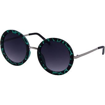 Sonnenbrille Damen  Chic  Kat. 3 geflammt grün (6470)