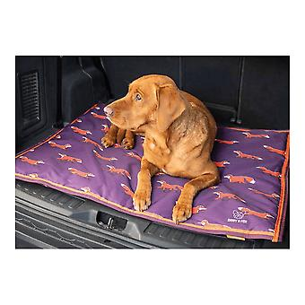 Shires Digby & Fox Waterproof Dog Bed - Plum Fox