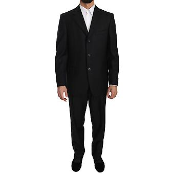 Ermenegildo Zegna Black Two Piece 3 Button Wool Suit KOS1368-50