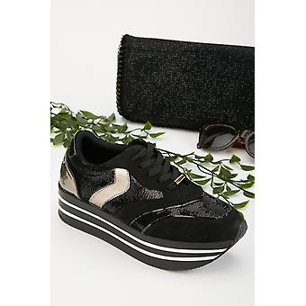 Contrasted Low Top Trainers 683588