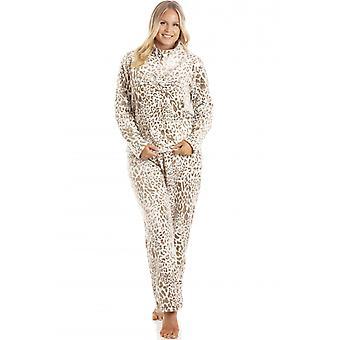 Camille Naisten Supersoft Mink Fleece Eläinten Tulosta Pyjama Set