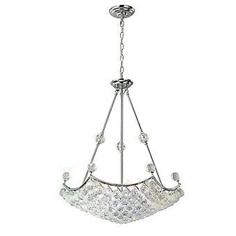 Diyas inspirados - Cesto - Colgante de techo 10 cromo pulido ligero, cristal