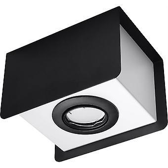 Sollux STEREO - 1 soffitto chiaro nero, bianco, GU10