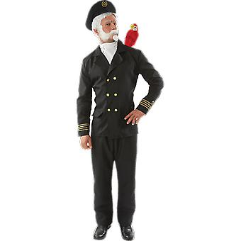 Orion kostuums mens Captain Birdseye Navy Sailor uniform fancy dress kostuum