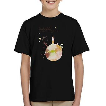 The Little Prince Autumn Colours Heart Quote Kid's T-Shirt