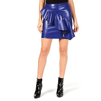 Guess | Lexie Ruffled Faux-Leather Skirt
