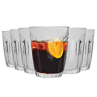 Duralex Provence Drinking Glasses - 130ml Tumblers for Water, Juice - Pack of 12