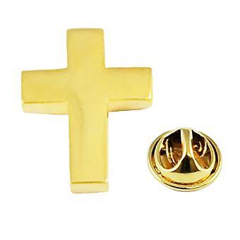 Kravaty Planet Pozlacené křesťanské kříž klopy Pin Odznak