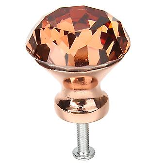 1pcs Rosso Colore Diamante Pull Handle Rose, Gold Base K9 -cristallo Cabinet Drawer