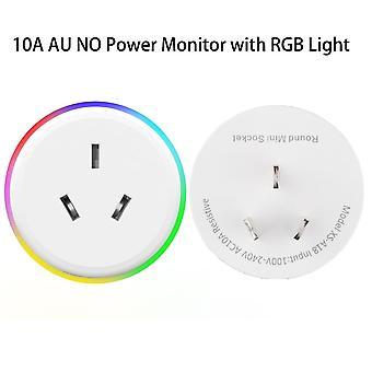 Wifi Smart Plug Rgb Wireless Power Socket Smart Life / tuya App Remote Control Praca z Alexa Google Home