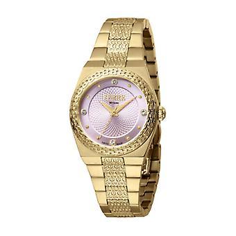Ferre Milano Women's FM1L091M0031 Pink Dial Gold IP Stainless Steel Wristwatch