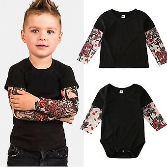 Baby Tattoo Sleeve Shirt Clothes Set, Bodysuit/t-shirts Brothers Matching