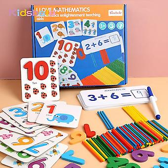 Montessori Mathematics Kids Early Educational, Counting Wooden Sticker Kids