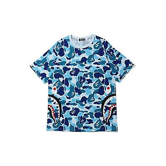 بابي ABC كامو الجانب القرش تي الأزرق - الملابس
