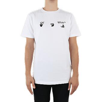 OFF WHITE Big Ow Logo S/S Slim Tee White OMAA027E20JER002110 Top