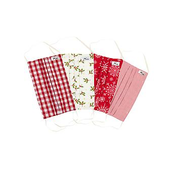 Mio Joy To The World Cotton 4 Pack Christmas Face Mask