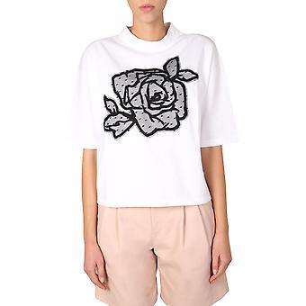 Red Valentino Ur0mg07u5j7a01 Women's White Cotton T-shirt