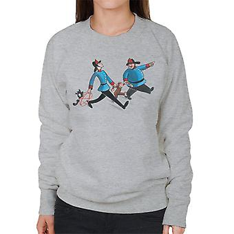 Neugierige George Feuerwehr Frauen's Sweatshirt