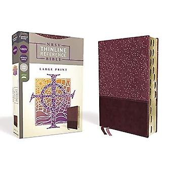 NRSV, Thinline Reference Bible, Large Print, Leathersoft, Burgundy, Indexed, Comfort Print