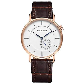 BAOSAILI BSL1045 Montre-bracelet minimaliste homme Ultra Thin Dial Case Quartz Watch