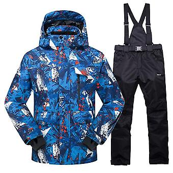 Men Snow Pants Sets, Skiing And Snowboarding Jacket