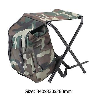 Outdoor Fishing Chair Table Bag, Folding Camping Stool, Portable Backpack With